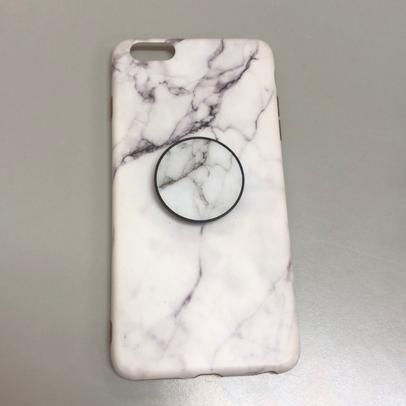 brand new 521e9 93684 Marble Phone Case + Matching Popsocket